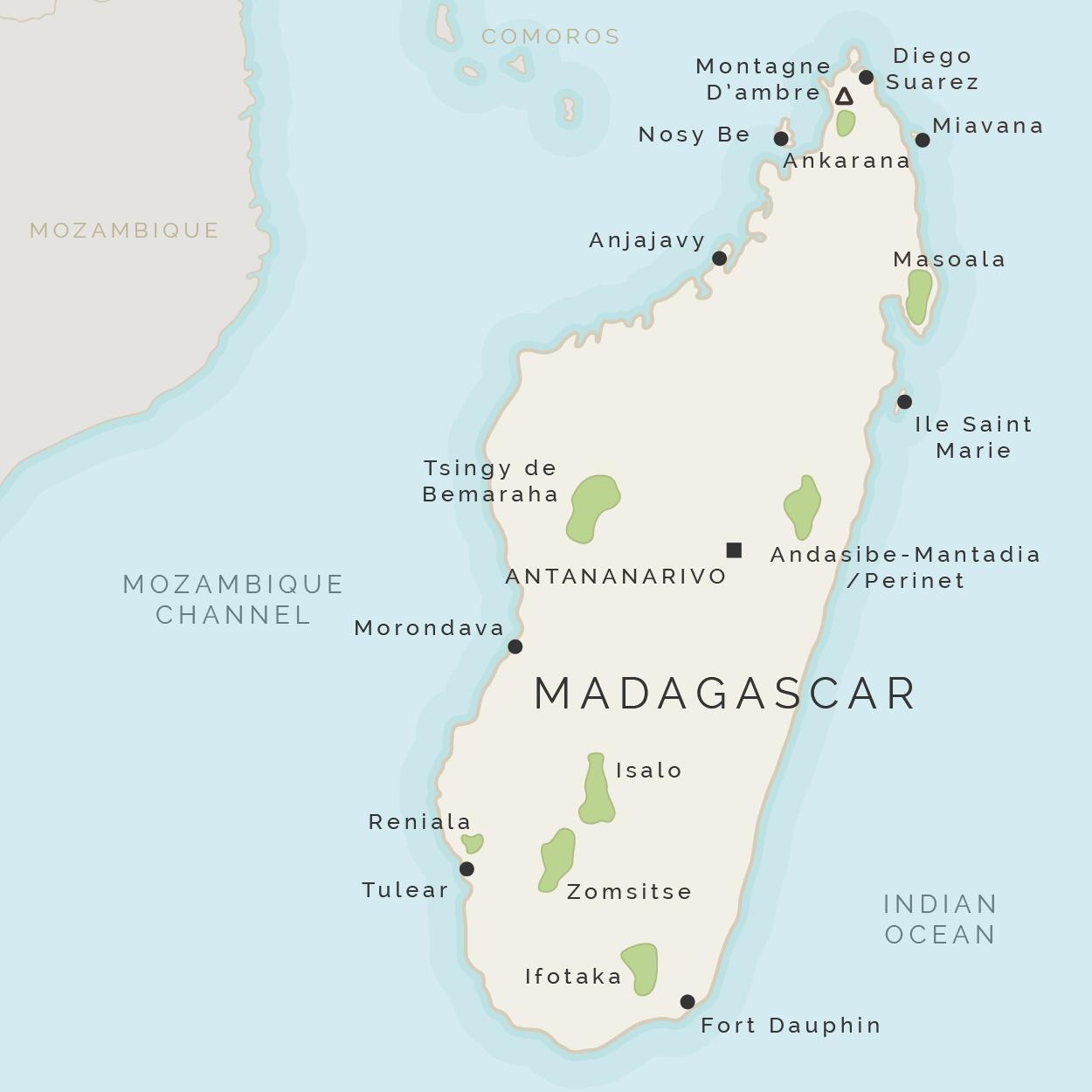 Insula Madagascar Hartă Harta De Madagascar și Insulele Din Jur
