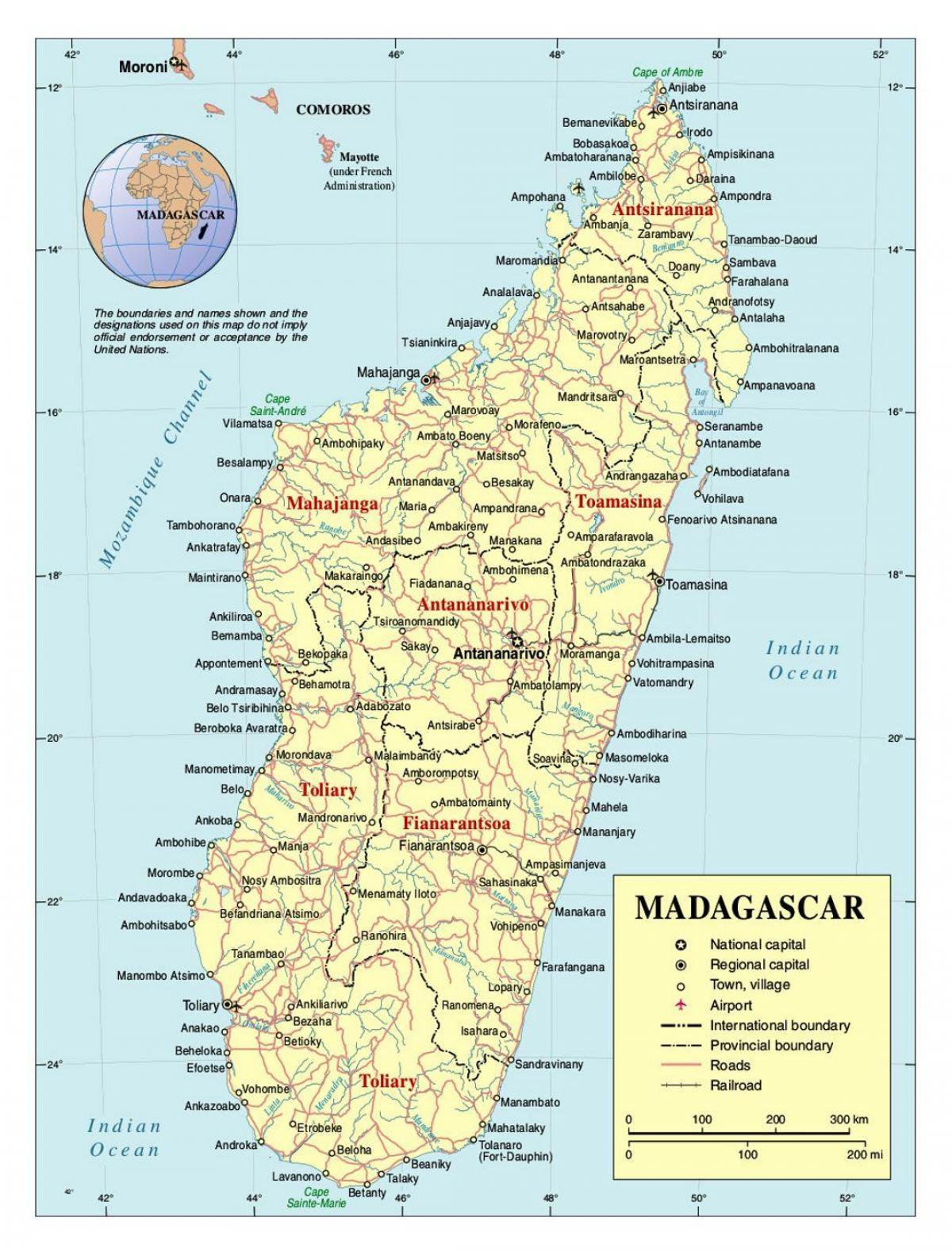 Harta Madagascar Detaliată Hartă De Madagascar Africa De Est și