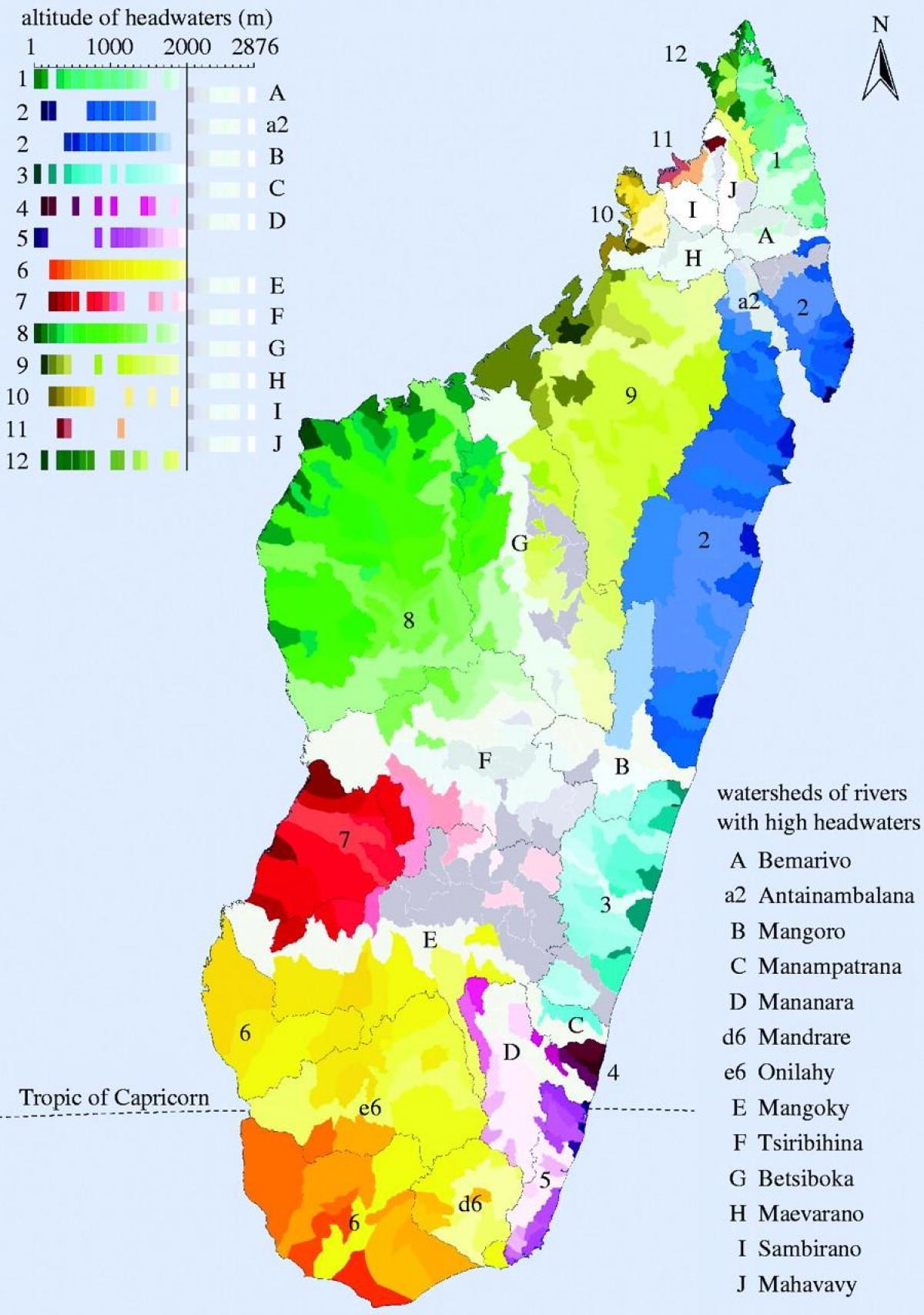 Madagascar Climatice Harta Hartă Din Madagascar Climatice
